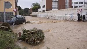 Lluvias intensas en Málaga.