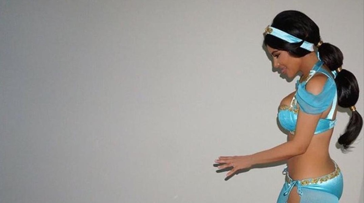Kim Kardashiam, como una princesa Disney.