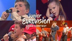 Los cuatro representantes de España en el Festival de Eurovisión Junior.