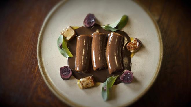 Canelones de liebre 'à la royale' del restaurante Suculent.