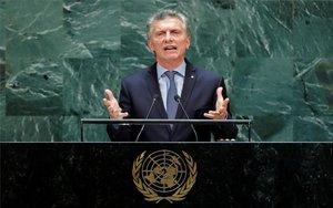 Mauricio Macri, presidente de Argentina en la Asamblea de las Naciones Unidas.