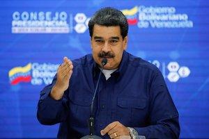 El presidente de Venezuela, Nicolás Maduro, durante un encuentro con miembros de su gobierno.
