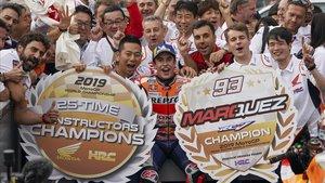 Marc Márquez gana el GP de Japón y da el título de constructores a Honda
