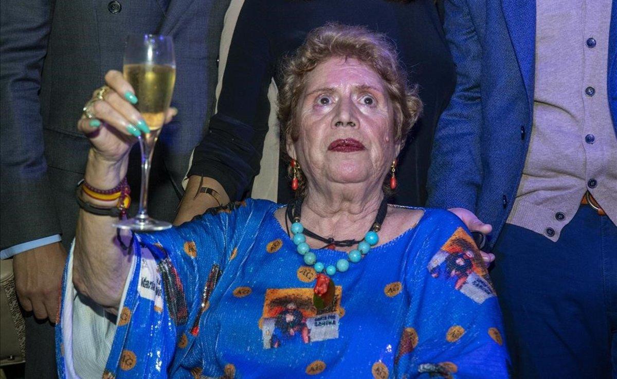 María Jiménez, en la celebración de su 70 cumpleaños en Sevilla.