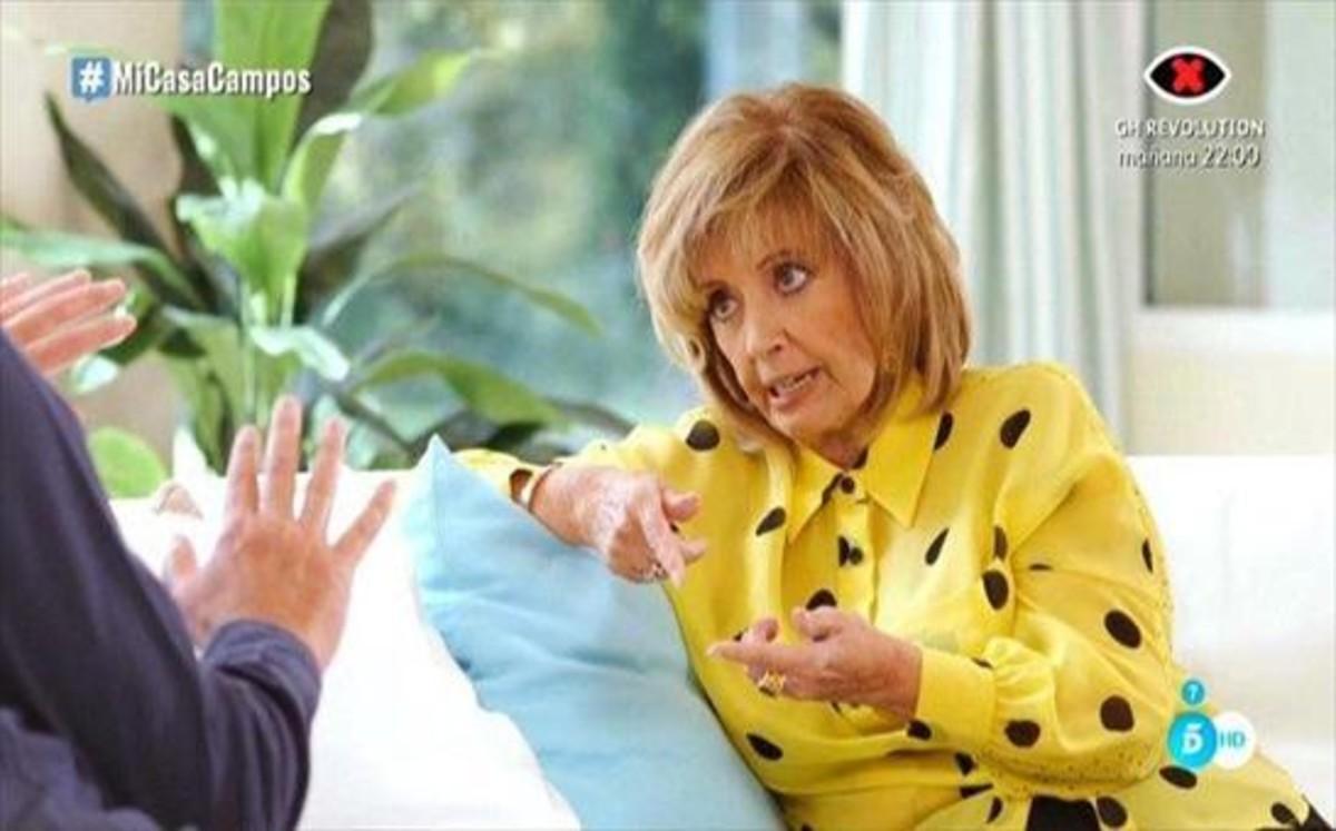 María Teresa Campos y Bertín Osborne, en 'Mi casa es la tuya' (Tele 5).