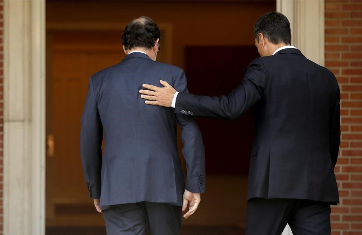 Mariano Rajoy y Pedro Sánchez, el pasado jueves en la Moncloa.