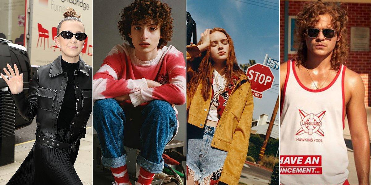Millie Bobby Brown, Finn Wolfhard, Sadie Sink y Dacre Montgomery, los ídolos de 'Stranger Things' y de las marcas de moda.