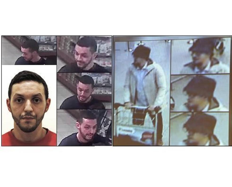 A la izquierda, Mohamed Abrini; a la derecha, el 'hombre del sombrero' en imágenes captadas por las cámaras de seguridad del aeropuerto de Bruselas.