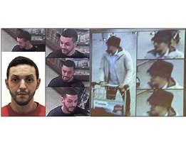 A la izquierda, Mohamed Abrini; a la derecha, el hombre del sombrero en imágenes captadas por las cámaras de seguridad del aeropuerto de Bruselas.
