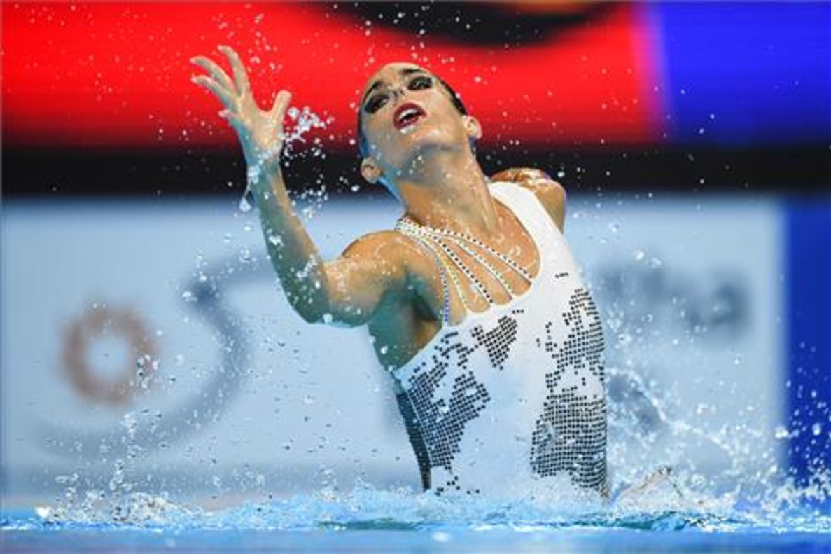 Un momento de la competiciónde Ona Carbonell.