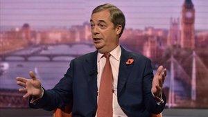 Nigel Farage, durante su intervención en el programa de la BBC.