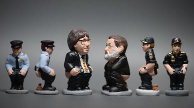 'Caganers' de Josep Lluís Trapero,Carles Puigdemont,Mariano Rajoy y un agente de la Policía Nacional.