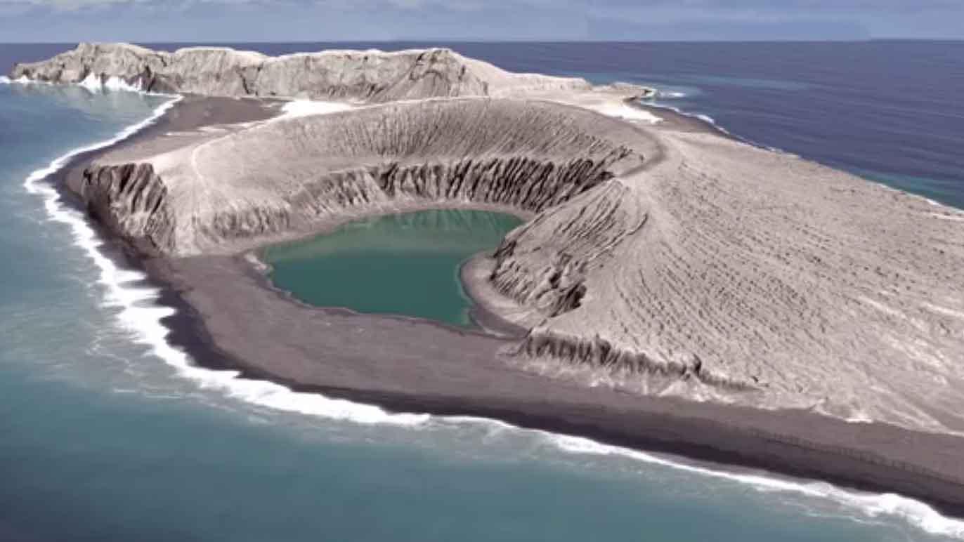 Una nueva isla del Pacífico se está formando a partir de ceniza en Tonga.