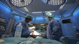 Sala de quirófano del Hospital Clínic de Barcelona.