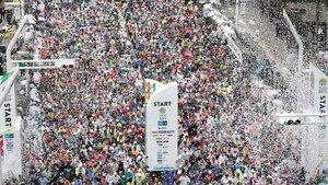 Participantes en la Maratón de Tokio del 2019.