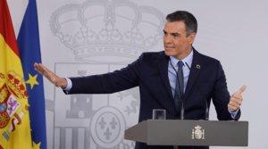 Pedro Sánchez, durante la primera rueda de prensa posterior al primer Consejo de Ministros tras las vacaciones, el pasado 25 de agosto.
