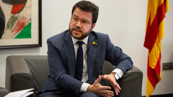 Pere Aragonès dice que hace falta una mesa de negociación política entre instituciones.