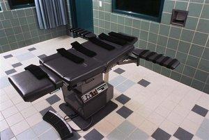 Una sala de ejecución en los Estados Unidos.