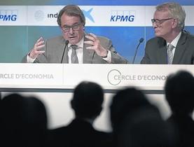 El presidentMas, en su intervención en las XXI jornadas del Cercle dEconomia, en Sitges.