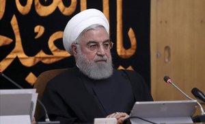 El presidente de Irán, Hassan Rohaní, en Teherán
