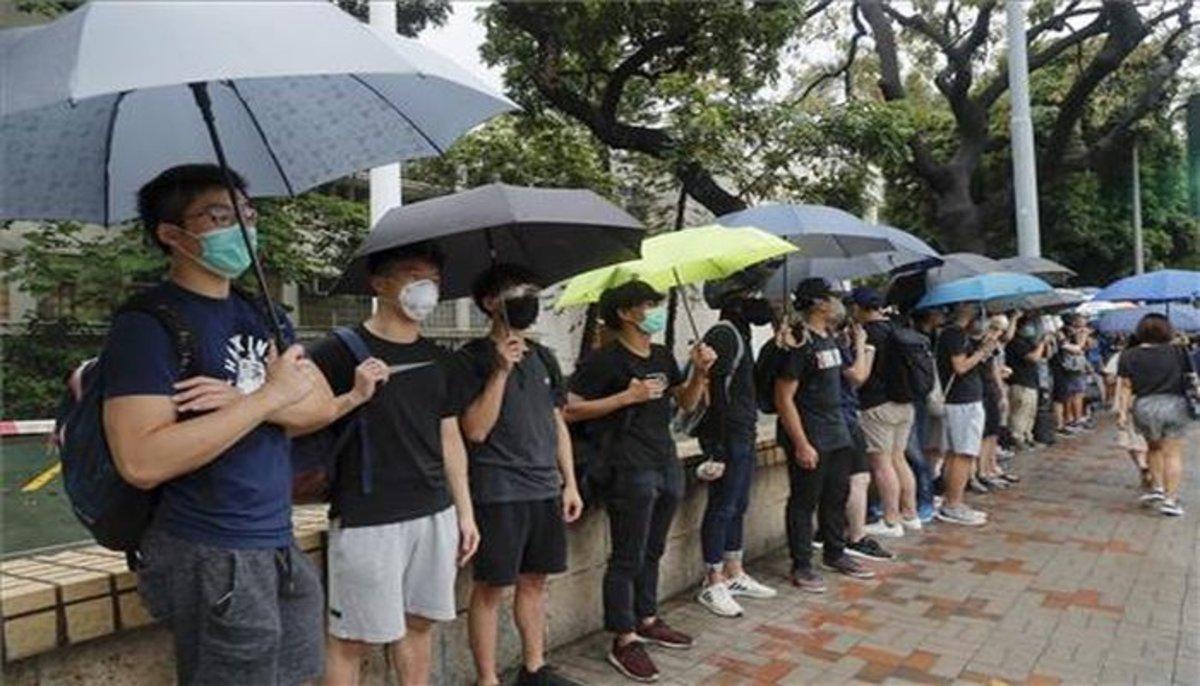 Protestas estudiantiles en Hong Kong.