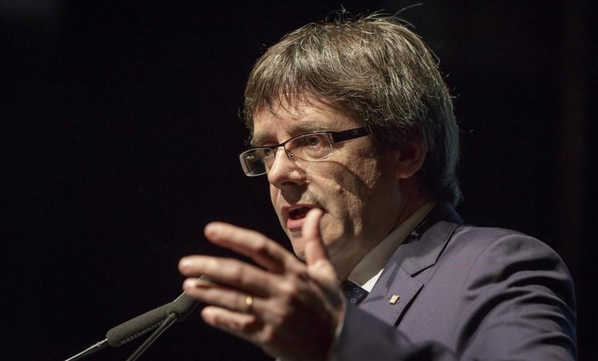 El president de la Generalitat, Carles Puigdemont, en un acto en Girona.