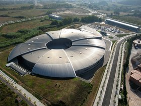 Imagen aérea del sincrotrón ALBA, en Cerdanyola del Vallès.