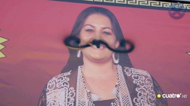 Pintades electorals, Marisol amb bigoti