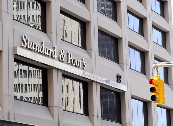 Vista de las oficinas de Standard and Poors (S&P)en Nueva York.