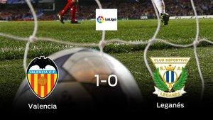 Tres puntos para el equipo local: Valencia 1-0 Leganés