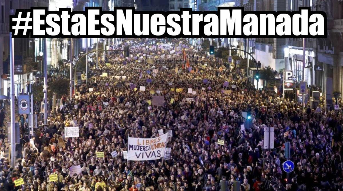 En Twitter, la etiqueta #EstaEsNuestraManada ha empezado a crecer con rapidez a las 8 de la mañana.