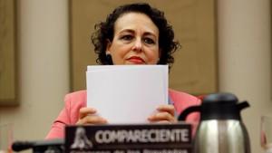 La ministra de Trabajo, Magdalena Valerio, en el Congreso de los Diputados.