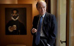 Gregorio Marañón Bertrán de Lis en su despacho de Madrid, el pasado día 26.