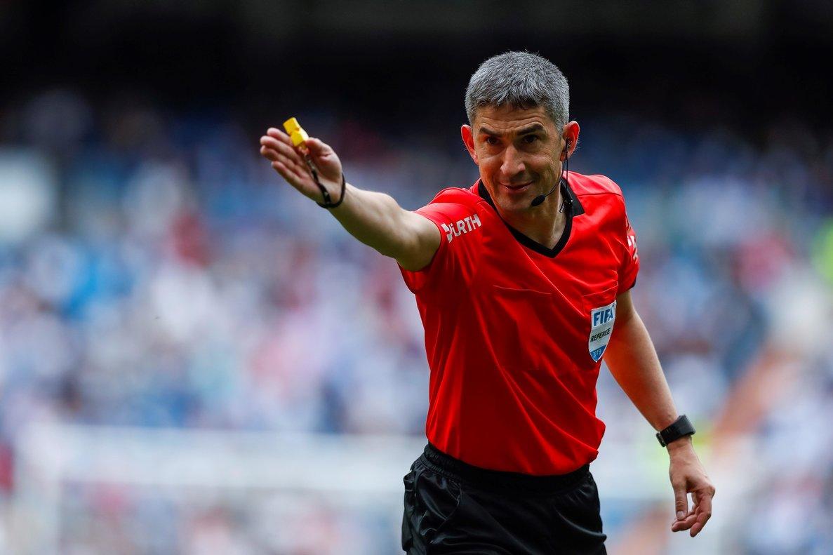 Undiano, el domingo pasado, en el Bernabéu, en su último partido de Liga.