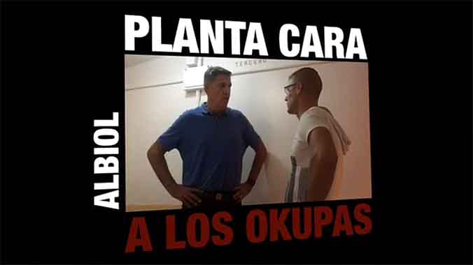 Albiol inicia la seva campanya amb un vídeo en el qual esbronca uns okupes