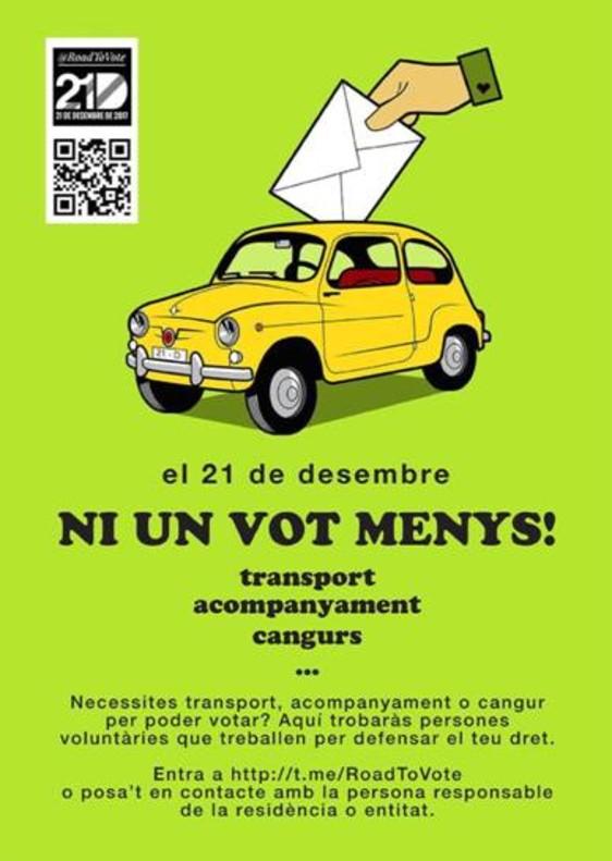 Cotxe i cangur gratis per garantir el vot independentista