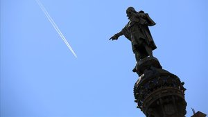 Monumento a Colón, en Barcelona.