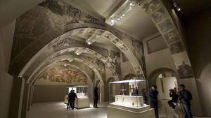 Sixena estudia demandar la Generalitat per fer malbé les pintures murals