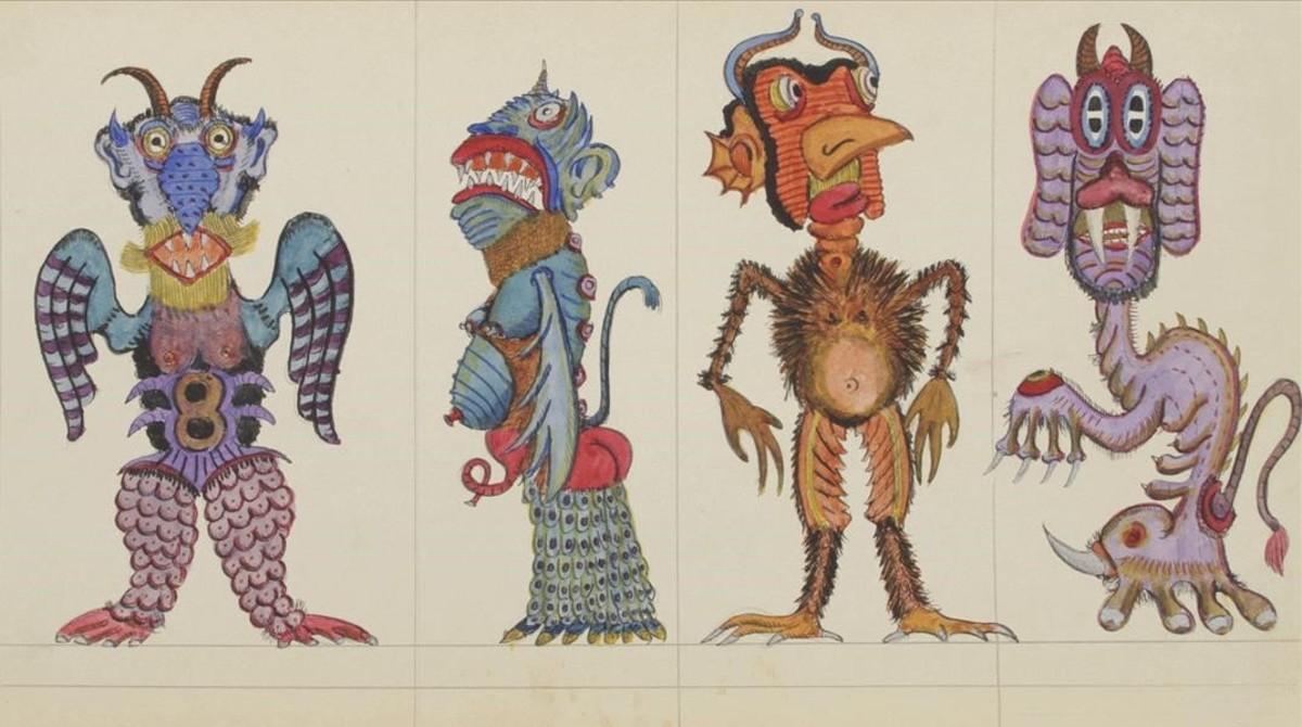 Algunas de las extraordinarias criaturas creadas por Josep Baqué.