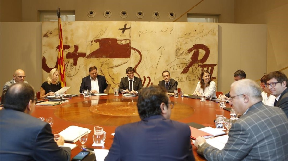 Imagen de la última reunión del Consell Executiu, el pasado martes en el Palau de la Generalitat.