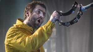 Liam Gallagher, en un concierto en la sala Razzmatazz, en diciembre pasado.