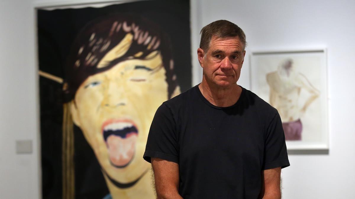Gus Van Sant, este jueves en la exposición que ha inaugurado en La Casa Encendida de Madrid.