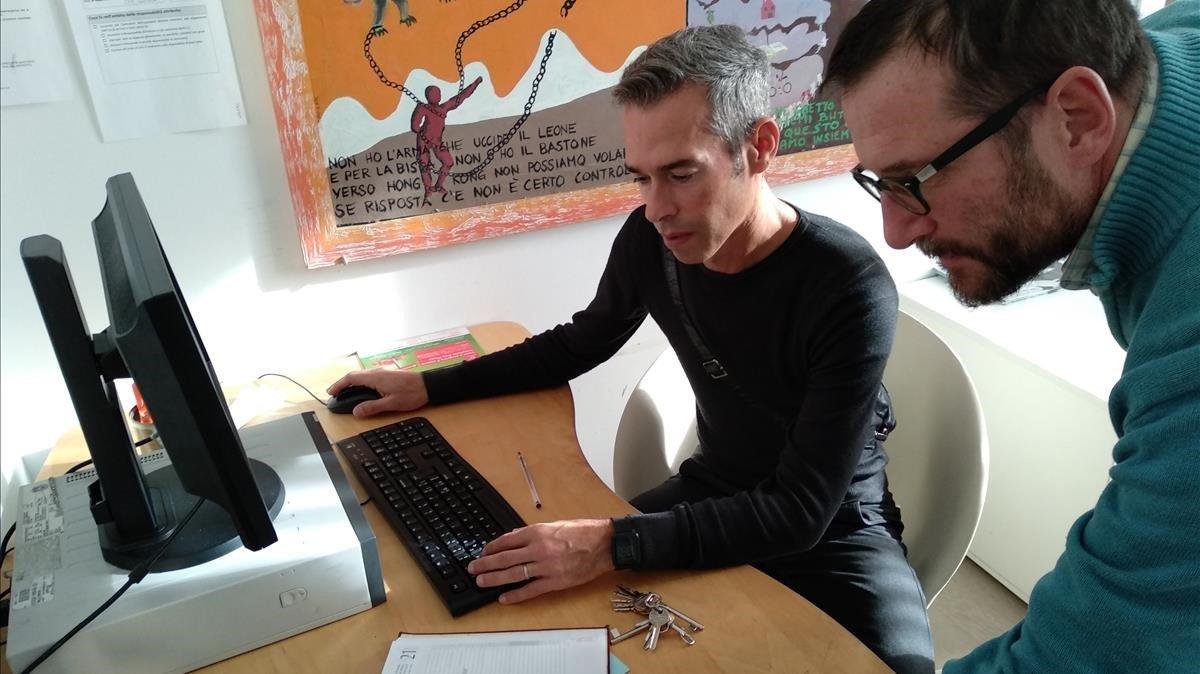 24 HORAS DE PUERTAS ABIERTAS. Mauro Corso y Maurizio Rossi, técnicos del servicio de rehabilitación psiquiátrica de Trieste.