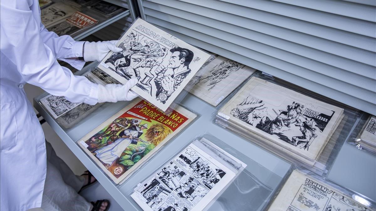 La Biblioteca Valenciana conserva 30.000 dibuixos de còmic originals