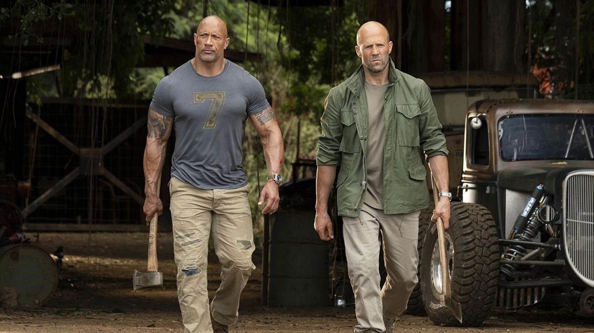 Dwyane Johnson y Jason Statham, en una imagen de 'Fast & furious: Hobbs & Shaw'.