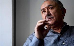 El secretario general de UGT, Pepe Álvarez, durante una entrevista con EL PERIÓDICO en noviembre pasado.