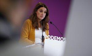 La portavoz del Consejo de Coordinació de Podemos, Noelia Vera