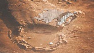Así sería la vida en Nüwa, la primera colonia terrestre en Marte.