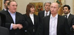 Depardieu i Putin, en una trobada al Museu Rus de Sant Petersburg, el desembre del 2010.