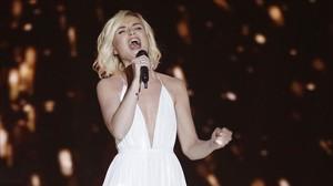 La rusa Polina Gagarina, en la primera semifinal de Eurovisión 2015